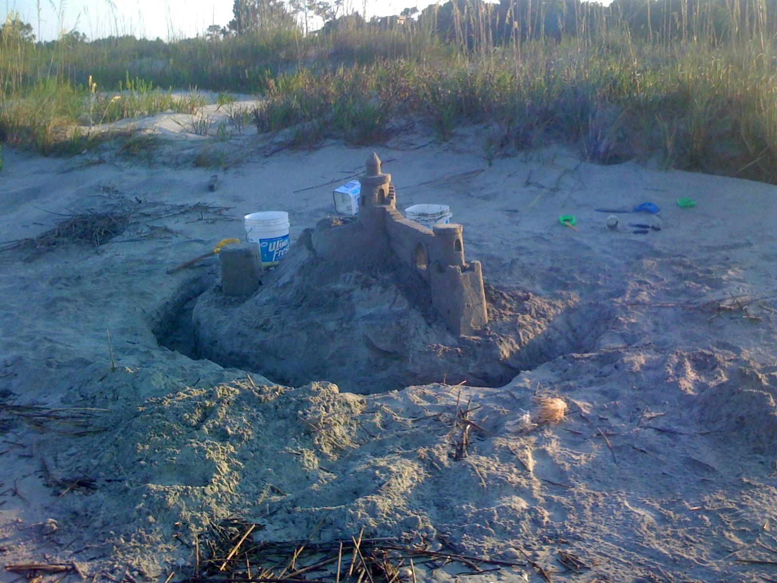 Sandcastle found on Dewees Inlet side of Dewees Island