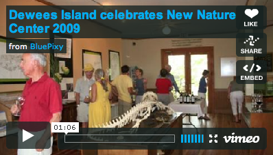 Click to view video of new nature center