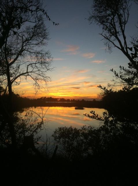 Sunset December 26, 2011