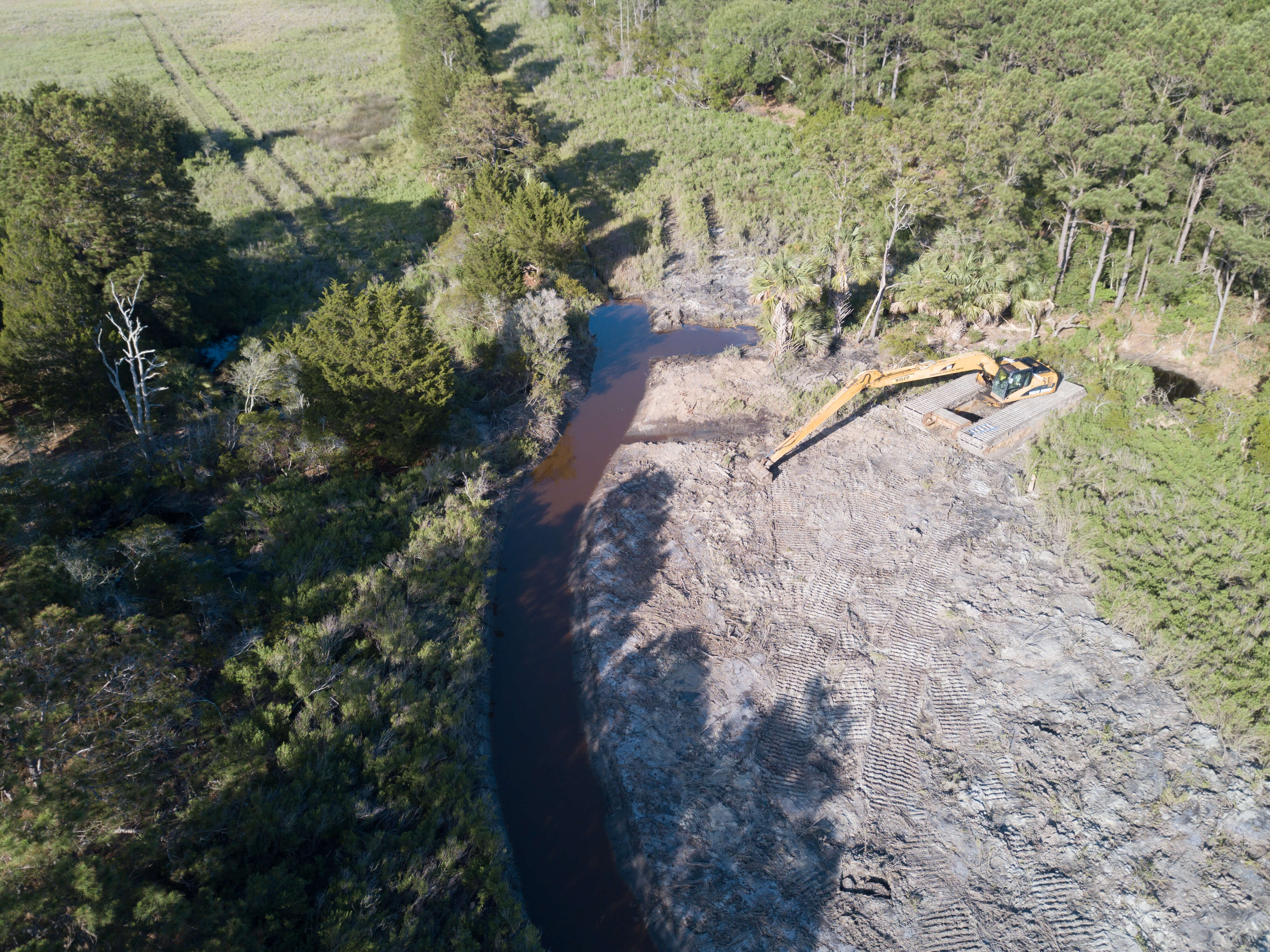 aerial of Lake Timicau Project 2017