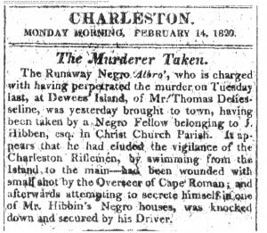Read more about the article A 200 year old Murder Story on Dewees Island